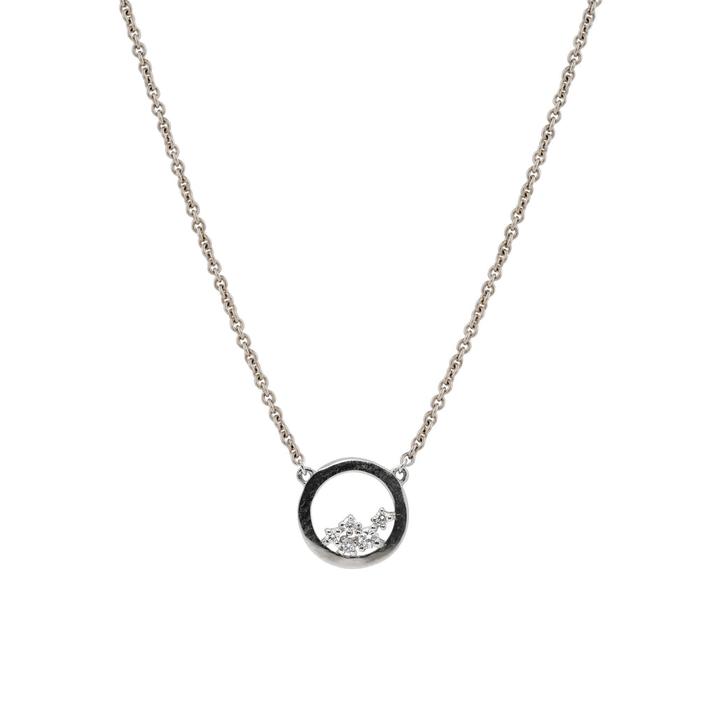 Enfold Diamond Necklace // White Gold - Lucy & Mui