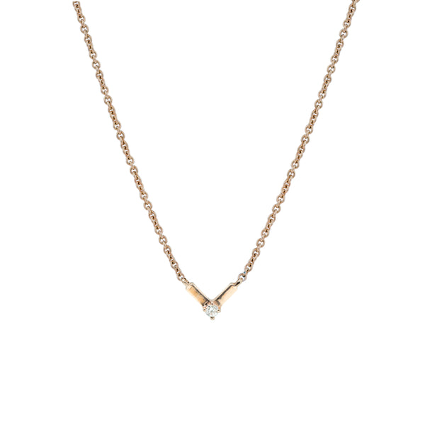 Silk Diamond Necklace I // Gold