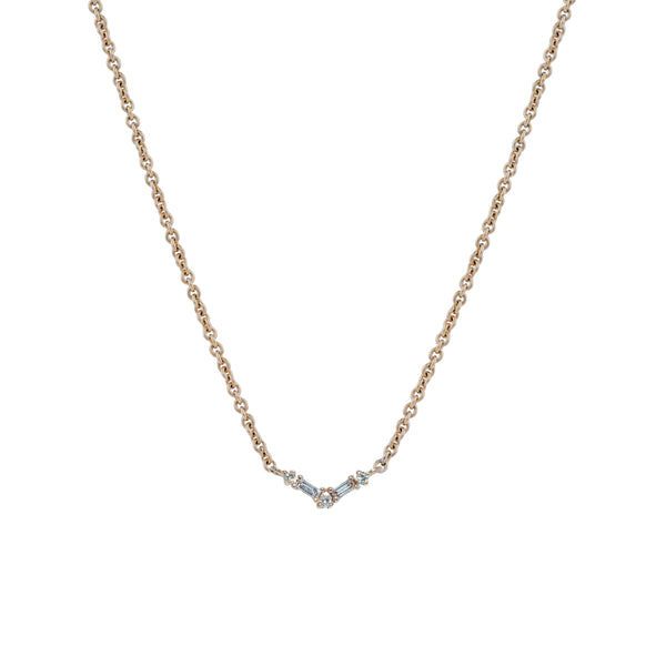 Silk Diamond Necklace II // Gold