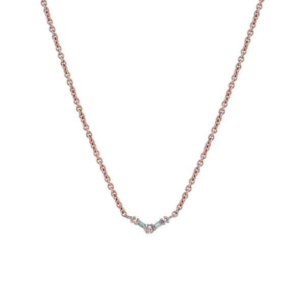 Silk Diamond Necklace II // Rose Gold - Lucy & Mui