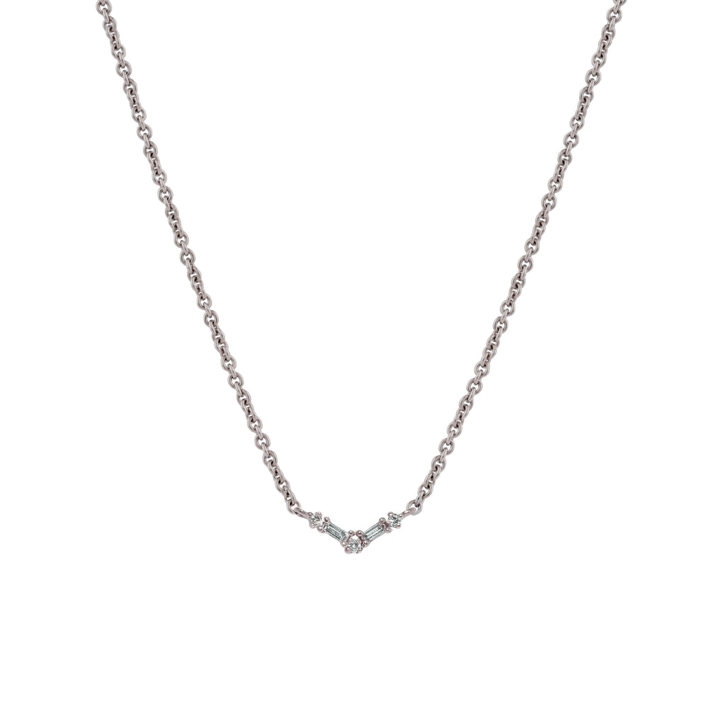 Silk Diamond Necklace II // White Gold - Lucy & Mui