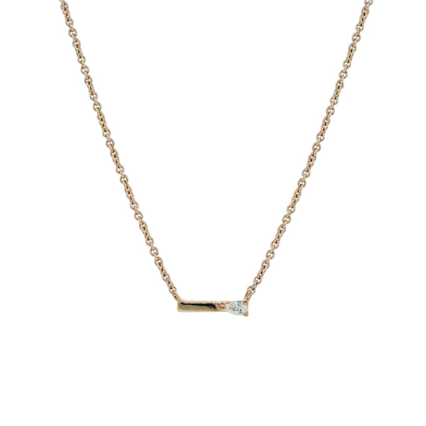 Dewdrop Diamond Necklace // Gold