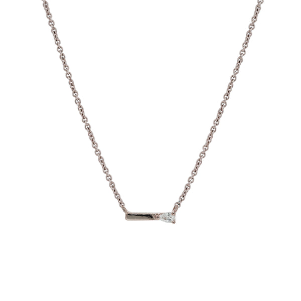 Dewdrop Diamond Necklace // White Gold - Lucy & Mui