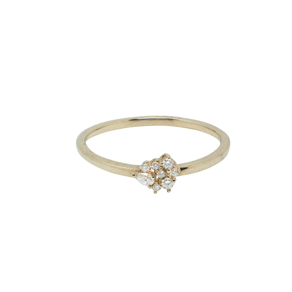 Gather Diamond Ring // Gold - Lucy & Mui