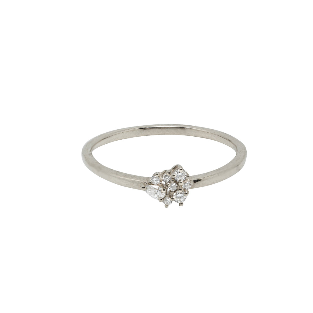 Gather Diamond Ring // White Gold - Lucy & Mui