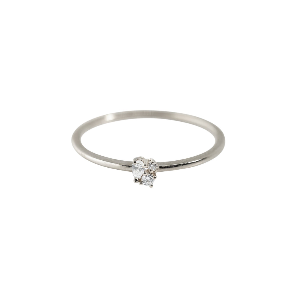 Darling Diamond Ring // White Gold - Lucy & Mui