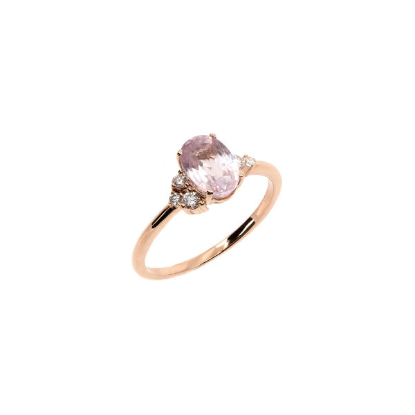 Willow Blush Sapphire Diamond Ring // Rose Gold