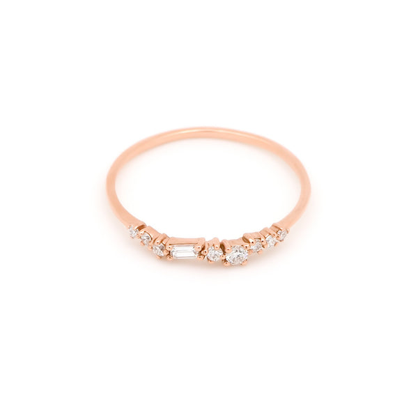Aura Diamond Wedding Band // Rose Gold - Lucy & Mui