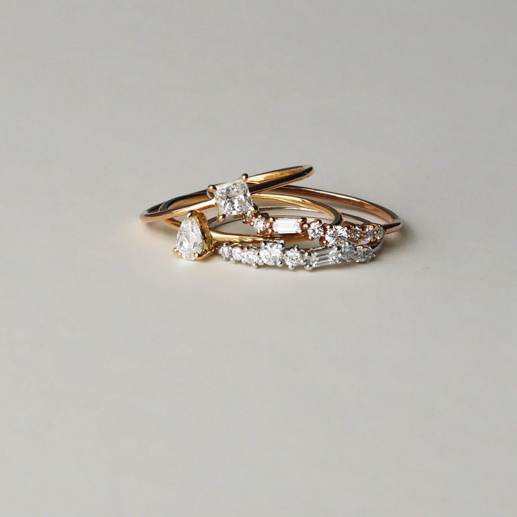 Aura Diamond Wedding Band // Gold