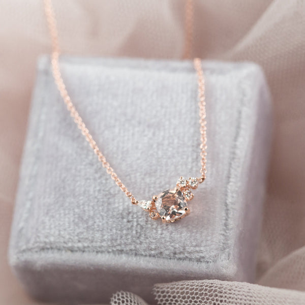Blossom Diamond Necklace // White Gold - Lucy & Mui