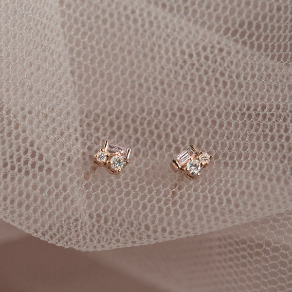 Fairy Diamond Earrings // White Gold - Lucy & Mui