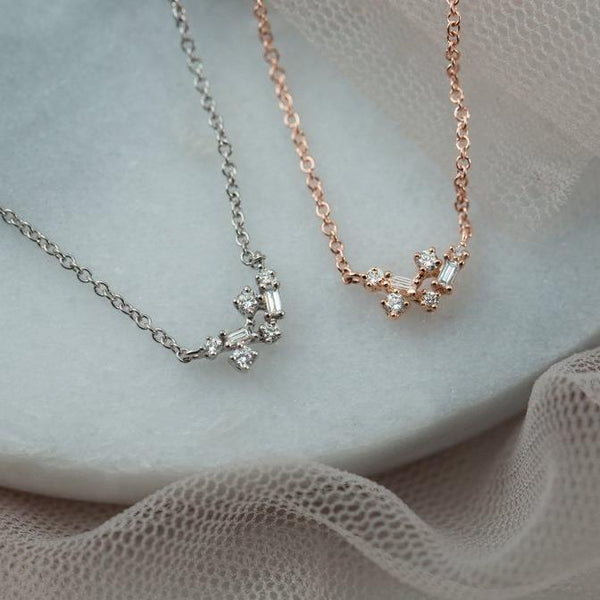 Fairy Diamond Necklace // White Gold - Lucy & Mui