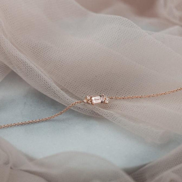 Diamond Drift Bracelet // Rose Gold