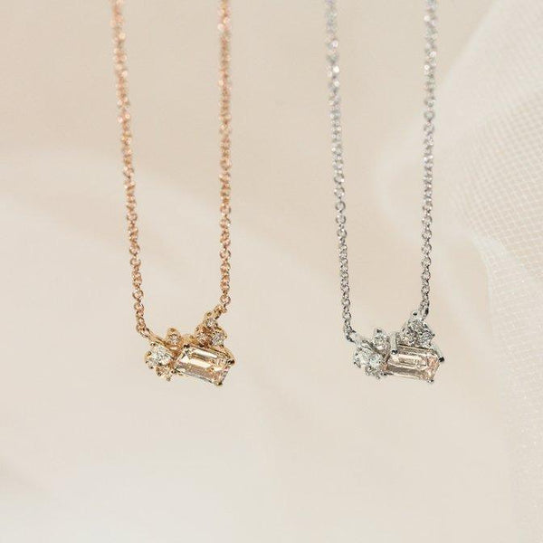 Diamond Drift Necklace // Rose Gold - Lucy & Mui