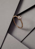 Petite Sapphire Baguette Diamond Ring // Rose Gold