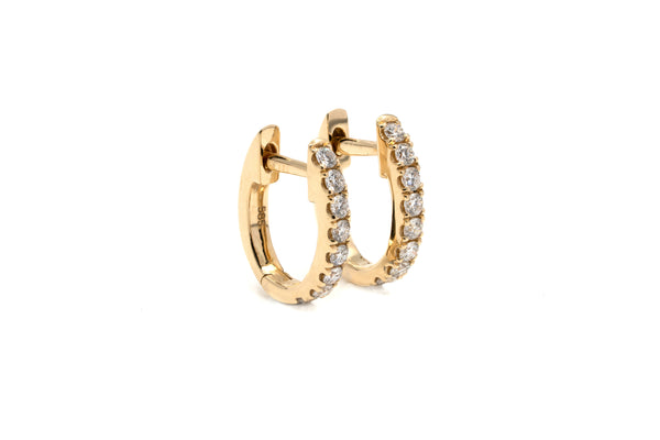 Grande Pavé Diamond Hoops // Gold