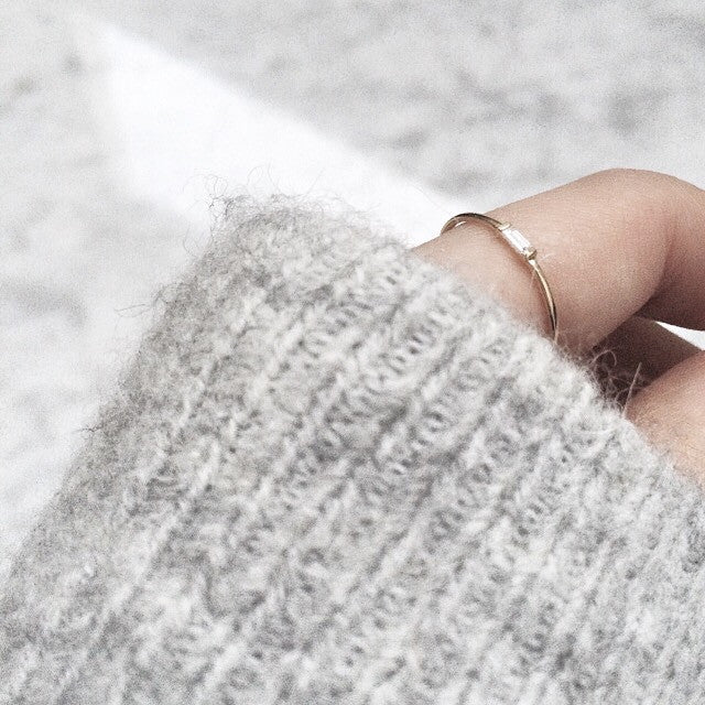 Mod Baguette Diamond Ring // Rose Gold