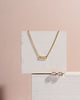 Deco Baguette Diamond Necklace // Gold