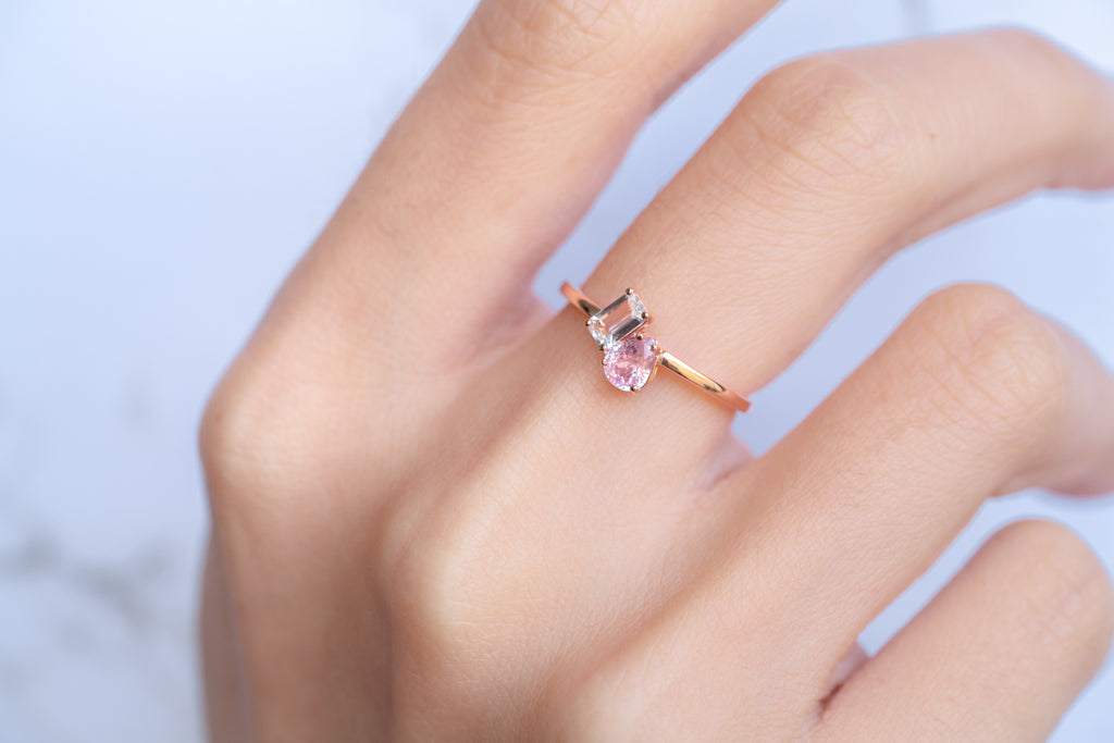 Liberty Sapphire Ring // Rose Gold