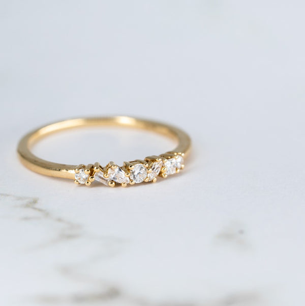 Muse Diamond Wedding Band // Rose Gold