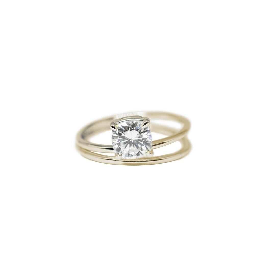 Aster Moissanite Engagement Ring // Gold