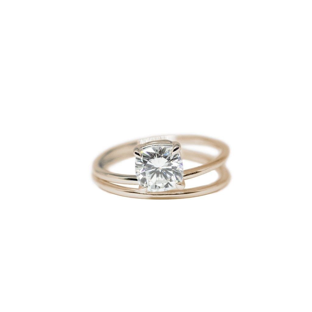 Aster Moissanite Engagement Ring // Rose Gold - Lucy & Mui