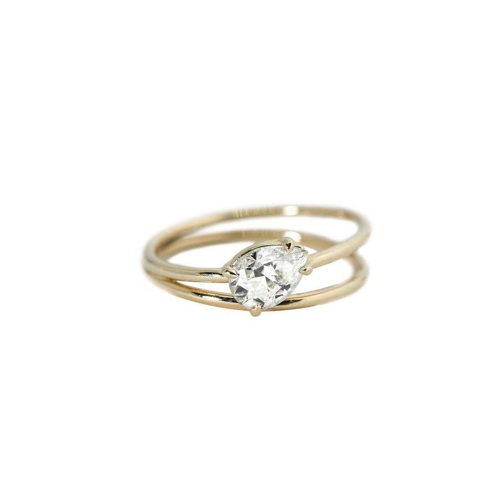 Sadie Moissanite Engagement Ring // Gold
