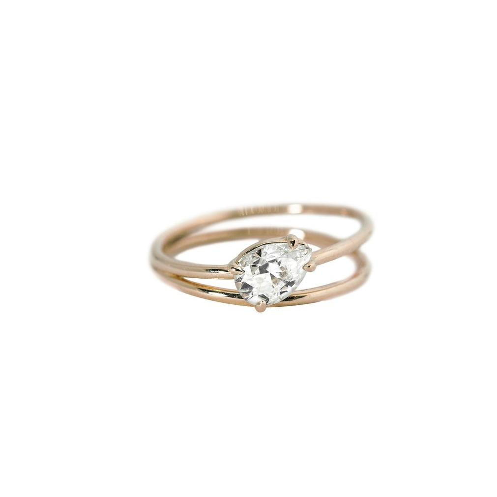 Sadie Moissanite Engagement Ring // Rose Gold