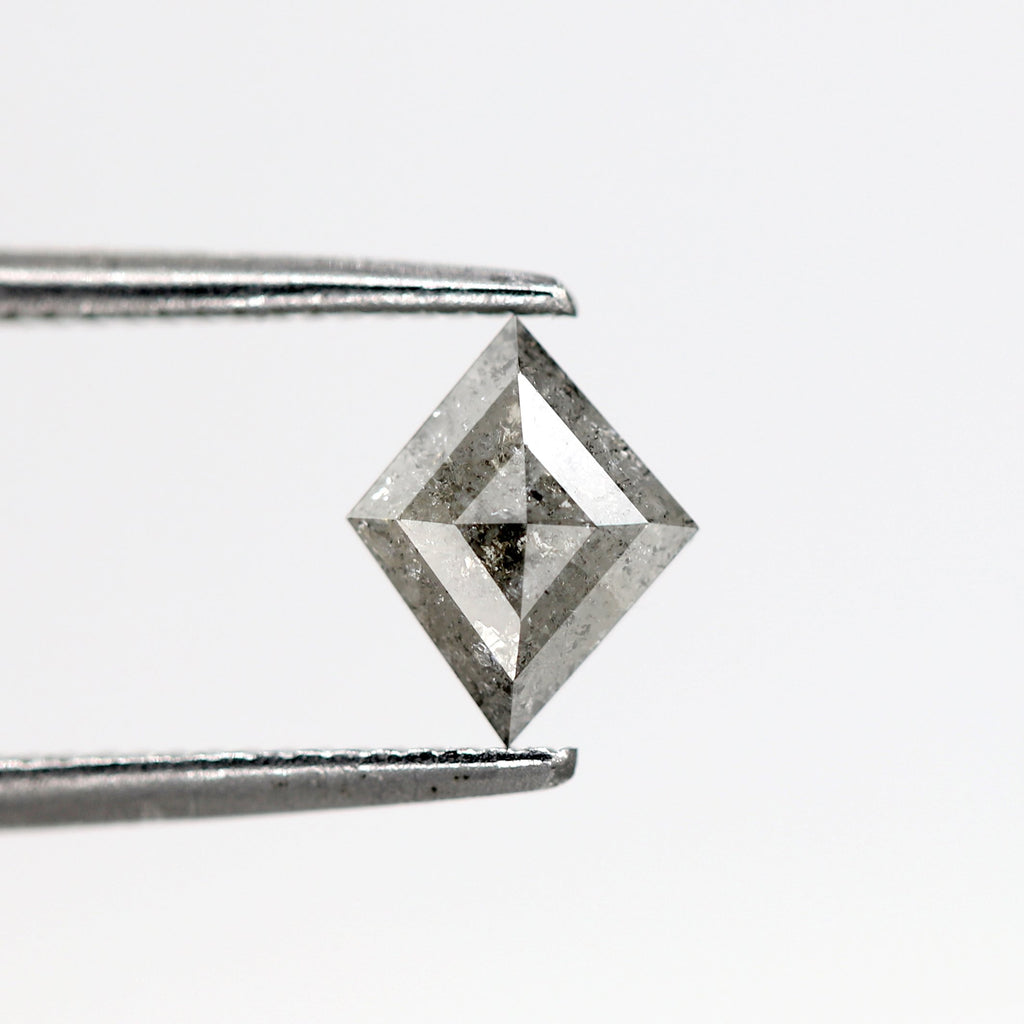 0.48 Carat | Kite-Cut Astral Diamond (Salt & Pepper) - Lucy & Mui
