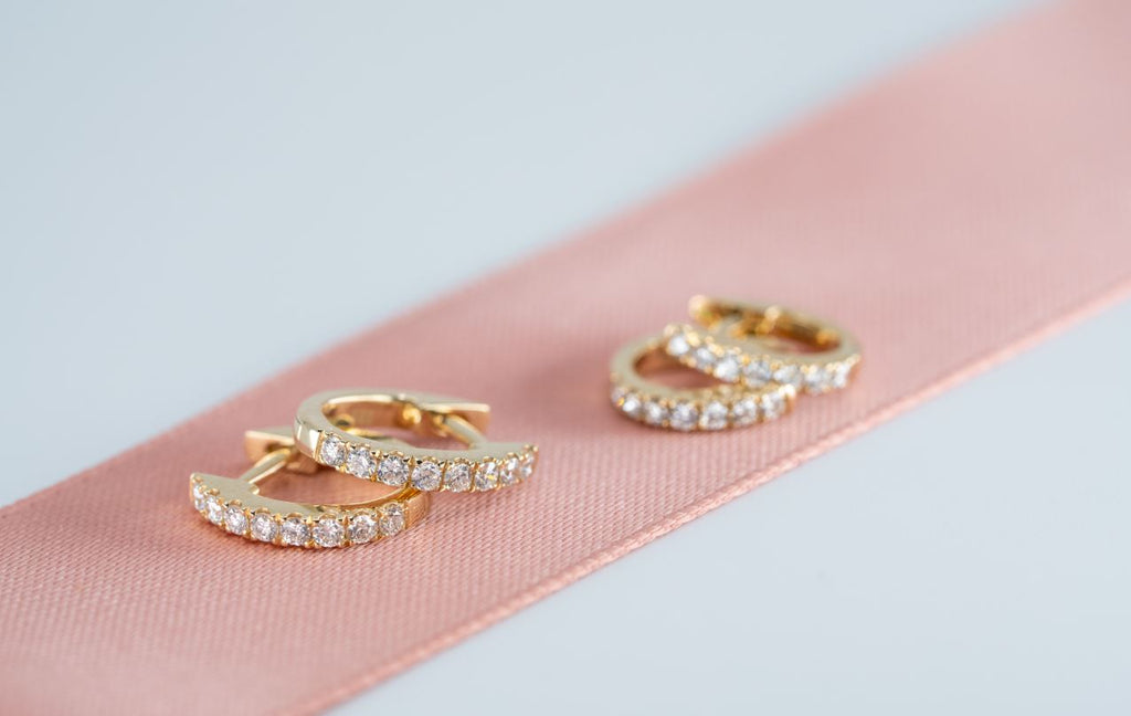 Grande Pavé Diamond Hoops // White Gold