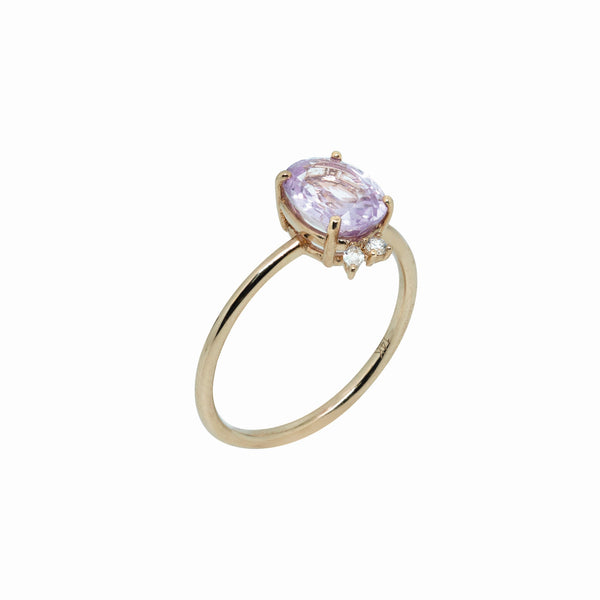 Lucia Sapphire Engagement Ring // Rose Gold - Lucy & Mui