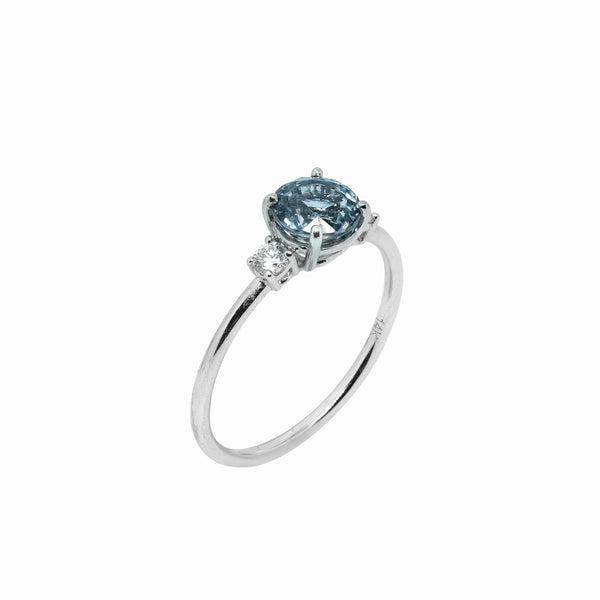 Sereia Sapphire Engagement Ring // White Gold - Lucy & Mui