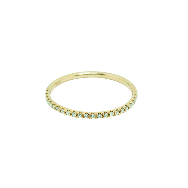 Sutton Classic Diamond Wedding Band // Gold - Lucy & Mui