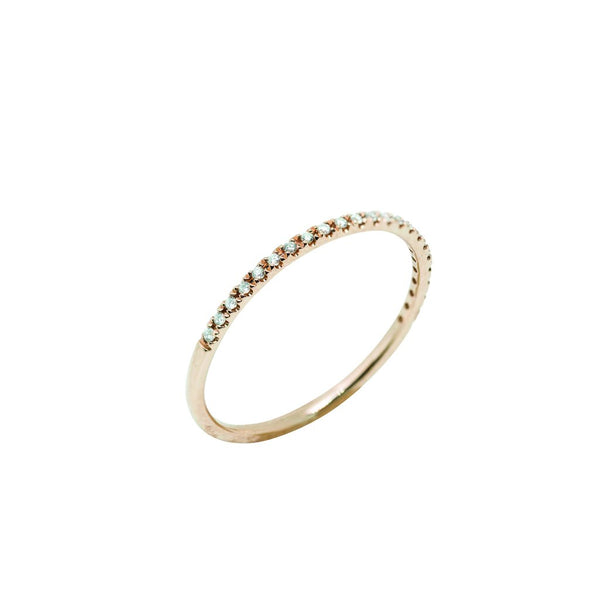 Sutton Classic Diamond Wedding Band // Rose Gold - Lucy & Mui