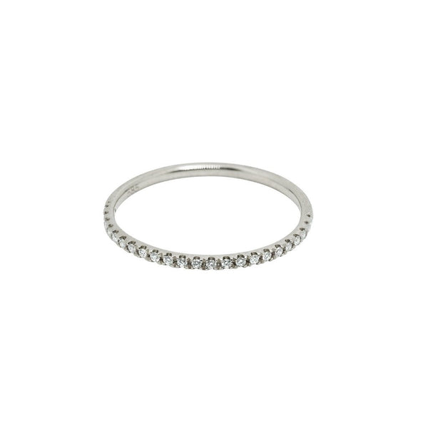 Sutton Classic Diamond Wedding Band // White Gold - Lucy & Mui