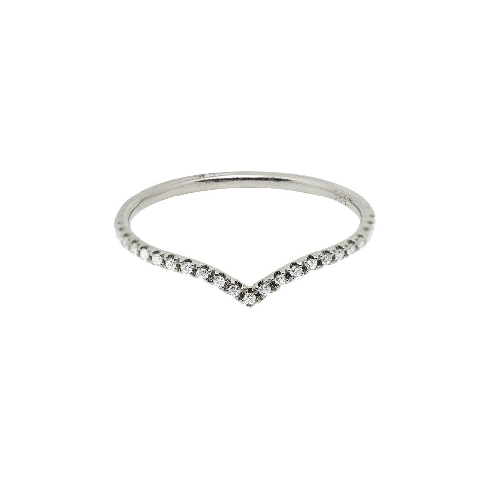 Sutton Summit Diamond Wedding Band // White Gold - Lucy & Mui