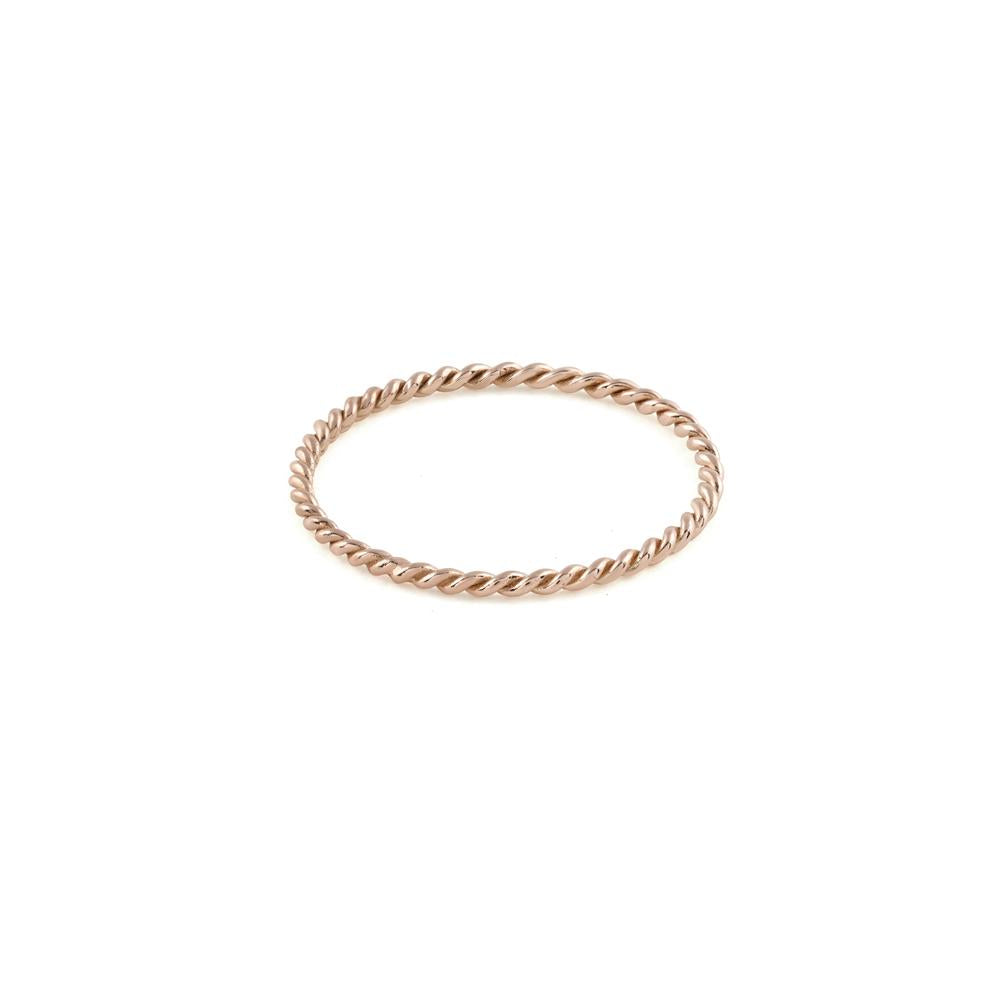 Twist Ring // Rose Gold