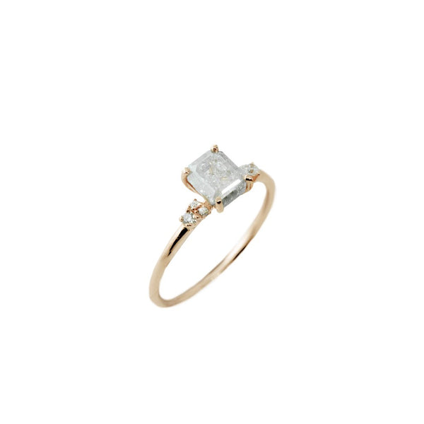 Avery Astral Diamond Ring // Rose Gold - Lucy & Mui