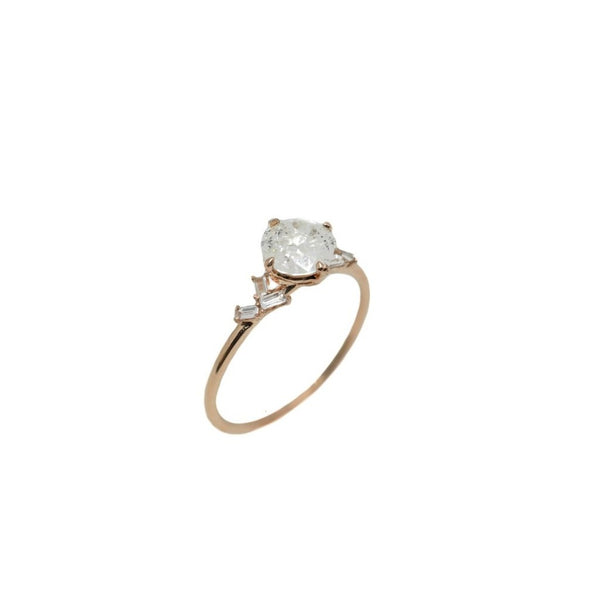Lune Icy Diamond Ring // Rose Gold