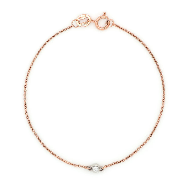 Bead Diamond Bracelet // Rose & White Gold