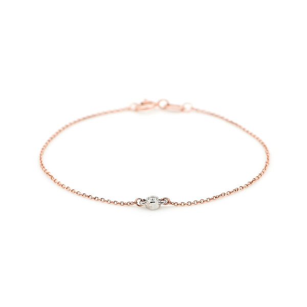 Bead Diamond Bracelet // Rose & White Gold - Lucy & Mui