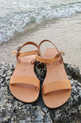 Tan Leather Sandals at Holliday June