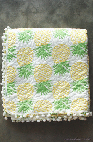 Pineapple Print Beach Blanket at Holliday June