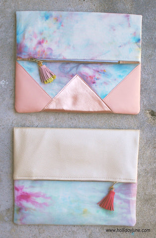 Tie Dye Large Envelope Clutch