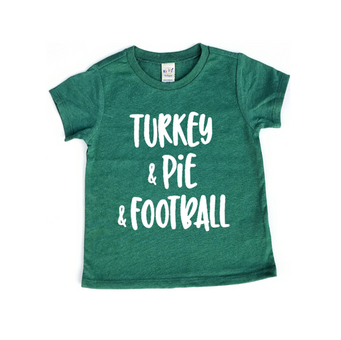 "Turkey & Pie & Football"" Baby - Toddler Tee"