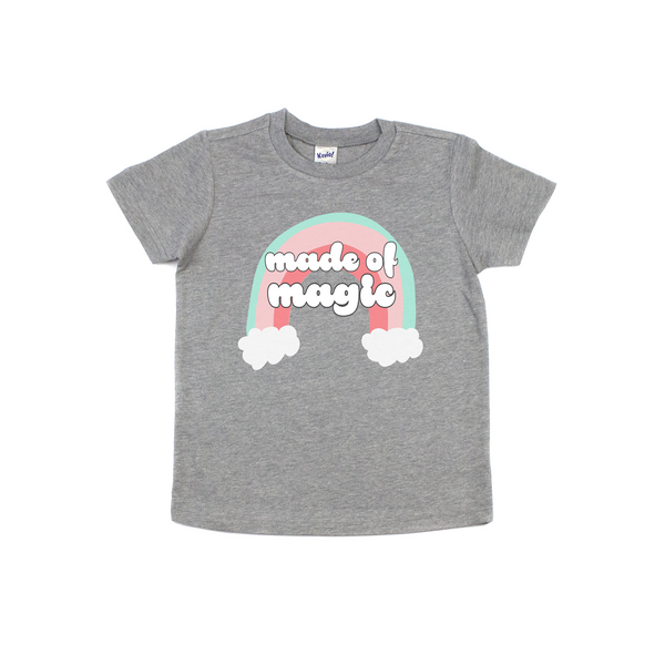 """Made Of Magic"" & ""You Are Magic Baby / Toddler / Youth Grey T-Shirt"