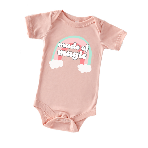 """Made Of Magic"" or ""You Are Magic"" Baby One Piece"