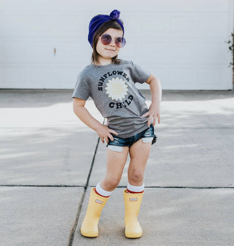 """Sunflower Child"" Baby - Toddler Tee - Wildflower"