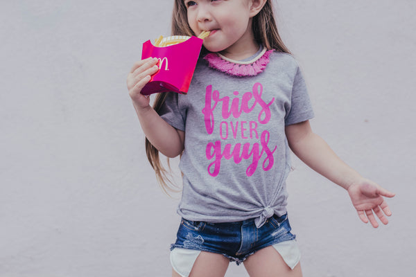 """Fries Over Guys"" Baby - Toddler Tee"