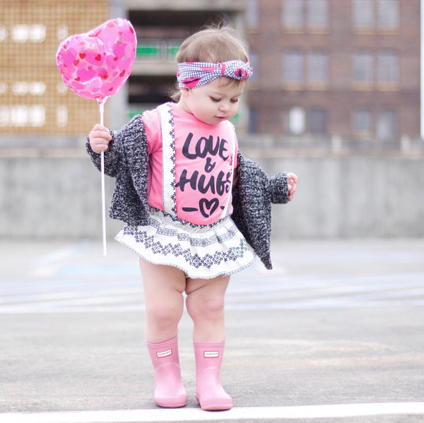 """Love & Hugs"" Baby - Toddler Tee"